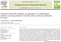 Structured Democratic Dialogue: An application of a mathematical problem structuring method to facilitate reforms with local authorities in Cyprus